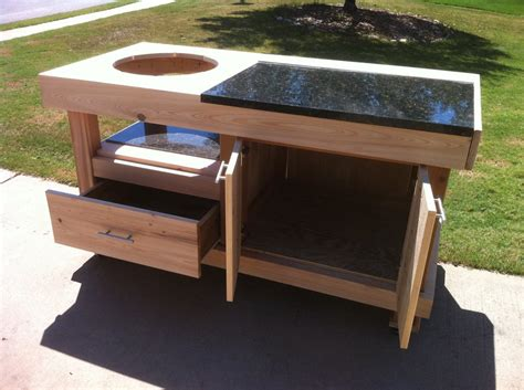 plans for large green egg table building table for big green egg woodideas