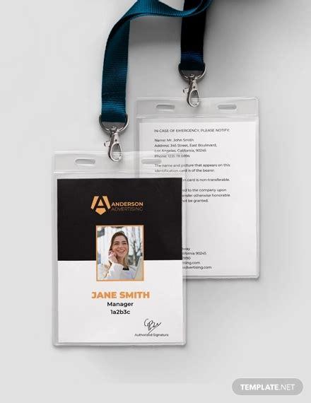 editable identification card template designs psd