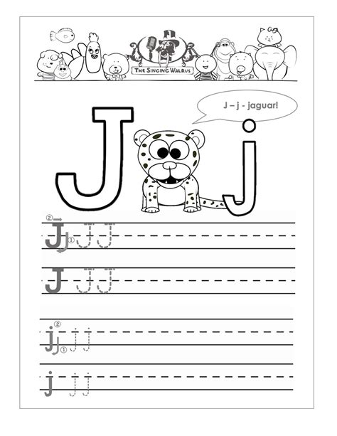 letter j worksheets for preschool www pixshark