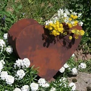 metall herz zum bepflanzen edel rost rostdeko pinterest With französischer balkon mit garten rost