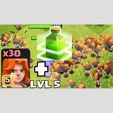 Clash Of Clans  Valkyrie Lvl 5 W Jump Spells Vs Th11 (new Update Changes And Level) Clipzuicom