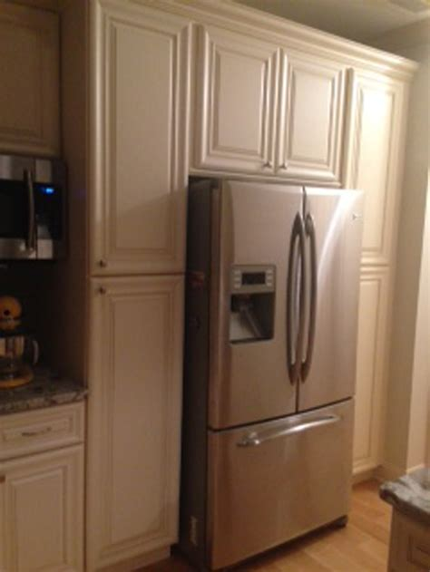 kitchen cabinets around refrigerator complete your kitchen with wide refrigerator for 5911