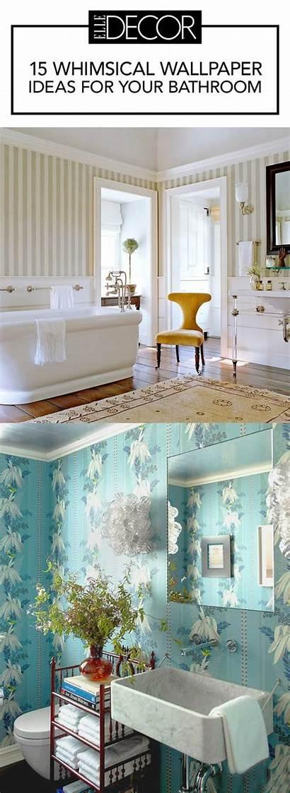 Bathrooms Bathroom Elle Living Walls Coverings Wallpapers