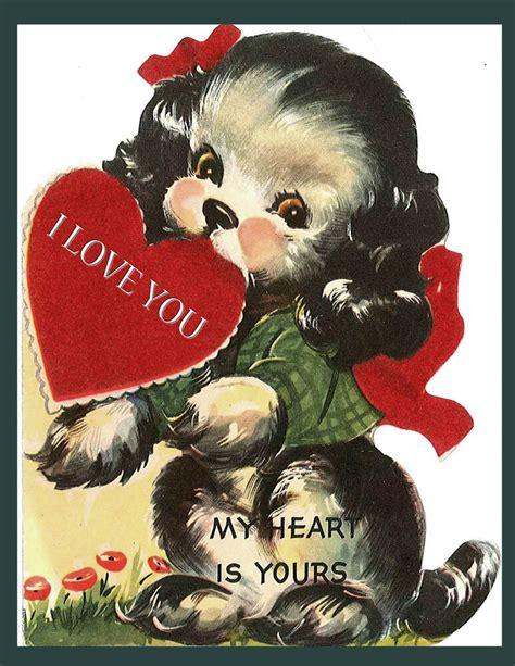 valentine postervintage cardhappy valentines daybig