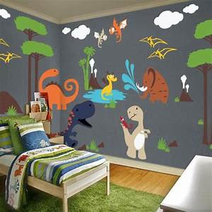 Color Chart With Names Dinosaur Land Playroom Wall Decal Pinknbluebaby Com