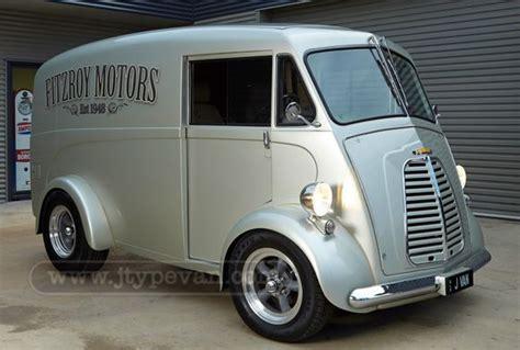 Front Three-quarter View Of Fitzroy Motors J-type Van