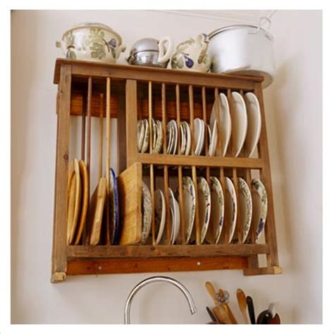 gap interiors wooden wall mounted plate rack picture library specialising  interiors