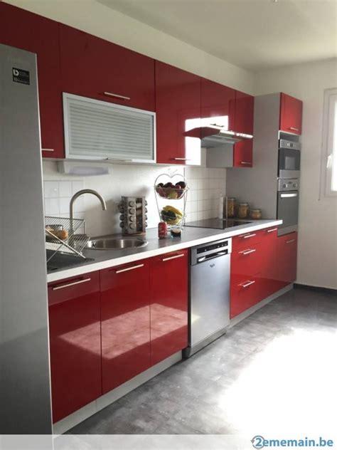cuisine laquee meuble de cuisine laquee brillant 7 elements neuve a