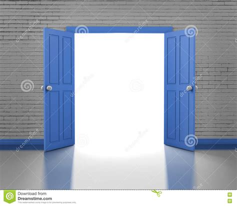open brick wall door stock photo image of opportunity entrance exterior