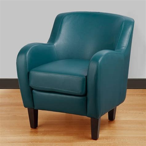 bedford turquoise bonded leather tub chair blue foam