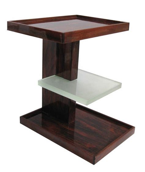 Side Sofa Tables by Pair Of French Art Deco Rosewood And Saint Gobain Glass