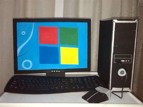 maquetas escolares computador elaborado en material reciclable maquetas computadores diy