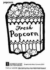 Popcorn Coloring Pages Sheet Drawing Printable Clipart Sheets Box Popular Coloringhome Edupics sketch template