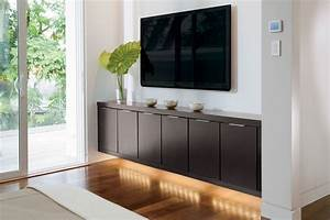 Furniture: Chic Floating Tv Stand For Home Furniture Ideas