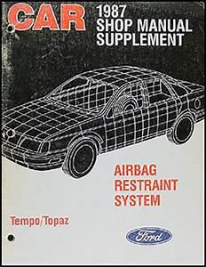 1987 Ford Tempo Mercury Topaz Foldout Wiring Diagram 87