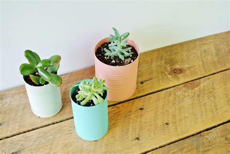 plantes pour chambre tuto facile des pots de fleurs en boîte de conserve