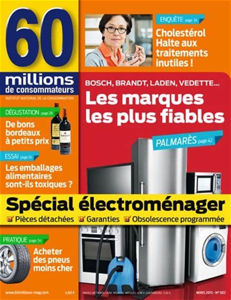 60 millions de consommateur lave linge 201 lectrom 233 nager les marques les plus fiables 60 millions de consommateurs