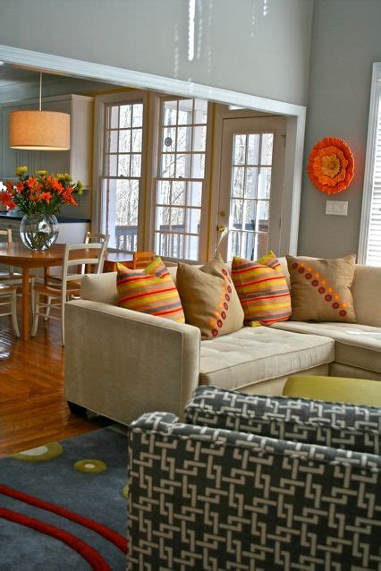 neutral walls red  living rooms  pinterest