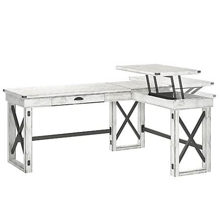 ameriwood l shaped desk ameriwood wildwood l shaped desk with lift top distressed