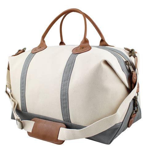 weekender tote bag gray canvas weekender bag