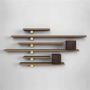 Original design wood wall shelf