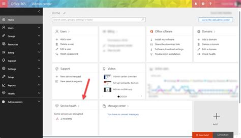 Office 365 Dashboard by Office 365 Service Health Dashboard Reverted To V1