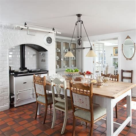 kitchen flooring ideas uk white kitchen with terracotta flooring decorating