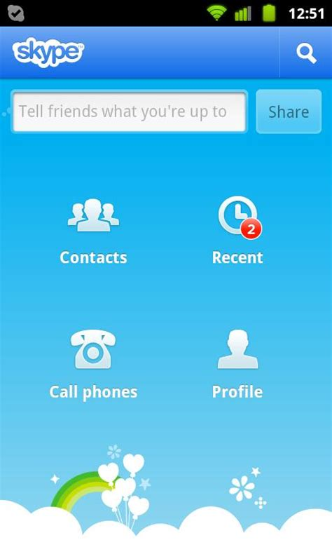 skype app  android   voice