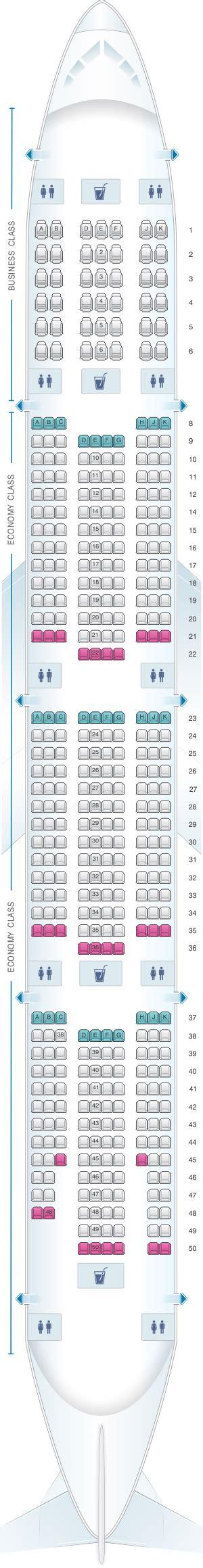 plan siege boeing 777 300er plan de cabine emirates boeing b777 300er two class