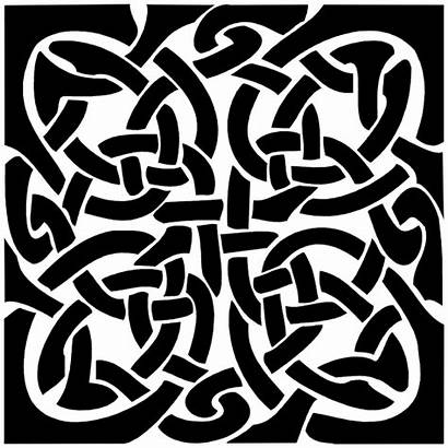 Celtic Knot Square Sticker 2695 Medieval