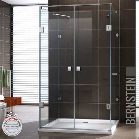 bernstein bad shop duschkabine u form duschabtrennung sicherheitsglas 8mm esg