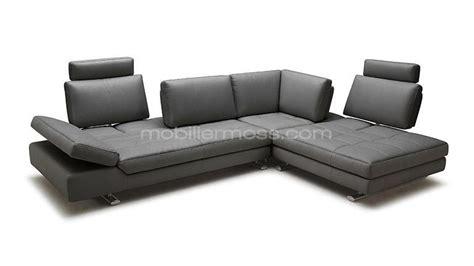 canapé d angle grande profondeur canape d 39 angle en cuir contemporain minho mobilier moss