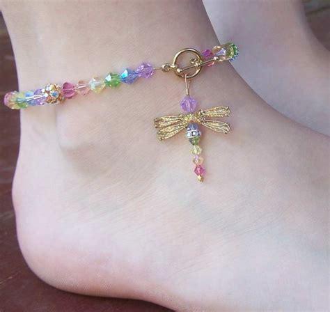 beaded anklets ideas  pinterest bare foot