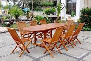 Salon Jardin Teck : salon de jardin teck huil 8 personnes lubok ovale 8 chaises ~ Melissatoandfro.com Idées de Décoration