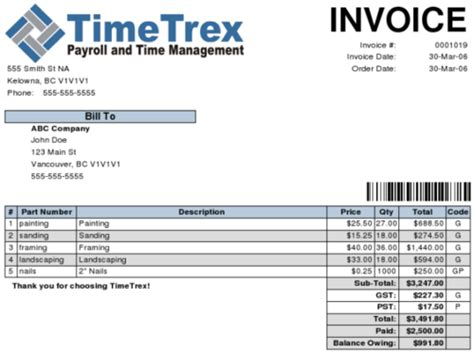 Invoice Contoh by Contoh Invoice Restaurant Contoh Win