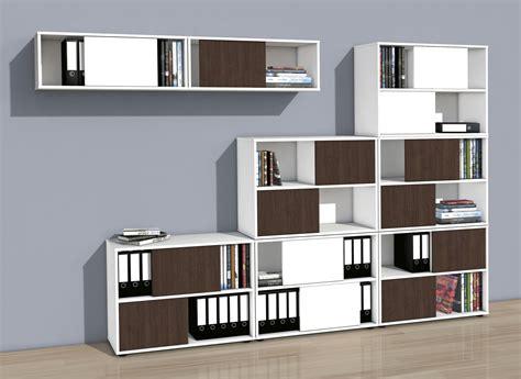 Moderne Büroschränke Mit Zweifarbigen Wendetüren Nicht