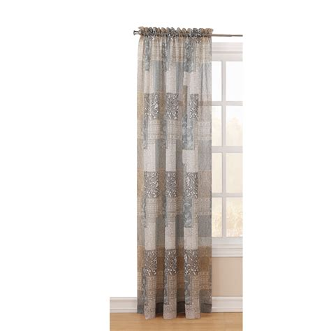 light filtering sheer curtains shop style selections 84 in l light filtering floral moss