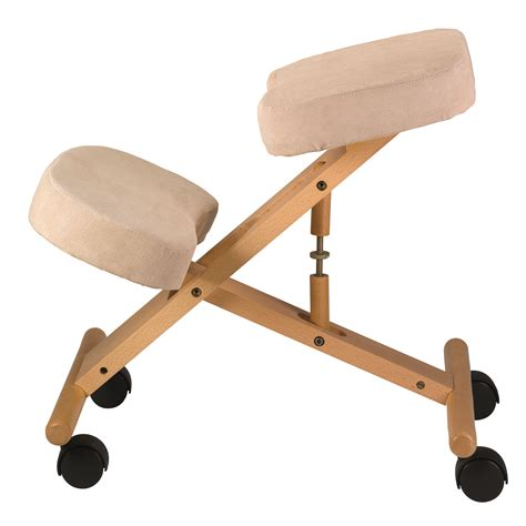 classic wooden kneeling chair beige bp1550be jobri