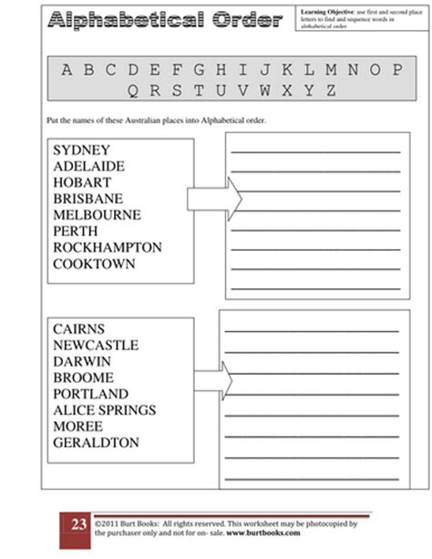 Alphabetical Order Worksheet 3 By Coreenburt  Teaching Resources Tes