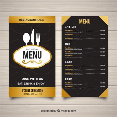 plantilla de menu de restaurante en diseno plano vector