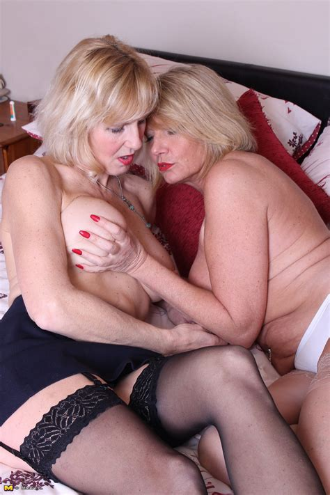 Mature British Ladies Undress Each Other For First Time Lesbian Sex