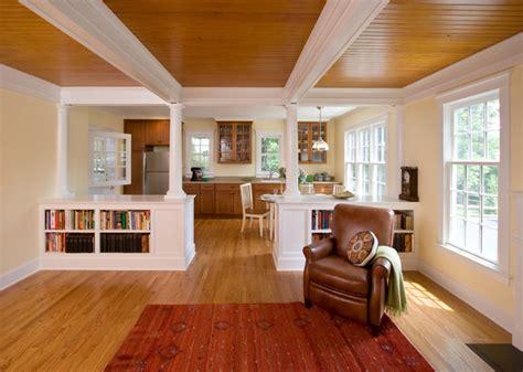 mother  law suite craftsman kitchen  york  clawson architects llc