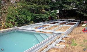 Pool Terrasse Selber Bauen : k rtge metallbau poolabdeckung yard pool ideas swimming pools backyard hidden swimming ~ Orissabook.com Haus und Dekorationen