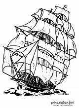 Ship Clipper Coloring Print Pages Colouring sketch template