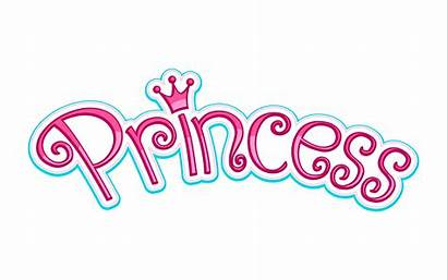 Princess Crown Pink Girly Vector Text Graphic