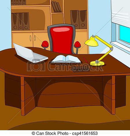 bureau dessin bureau dessin chaise de bureau de dessin stock vecteur