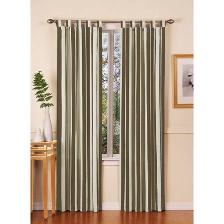 Draperies Sacramento by Sacramento Stripe Tab Top Curtain Panels Green Walmart
