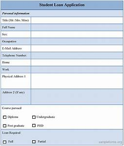 Loan application template free printable documents for Loan documentation software