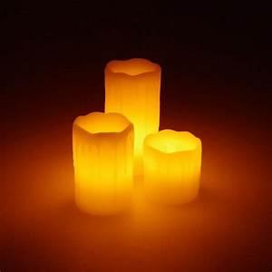 Led Bild Kerzen : echtwachs led kerzen 3st ck 5x5 7 10cm creme real ~ Frokenaadalensverden.com Haus und Dekorationen