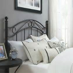 black queen headboard wrought iron metal bed frame antique
